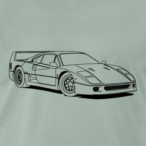 f40 outlines T-shirts - Herre premium T-shirt