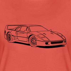 f40 outlines T-Shirts - Women's Premium T-Shirt