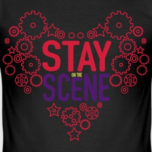 Stay on the Scene T-shirts - Slim Fit T-shirt herr