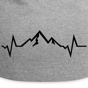 Mountains - Heartbeat Caps & Hats - Jersey Beanie