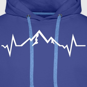 Mountains - Heartbeat Hoodies & Sweatshirts - Men's Premium Hoodie