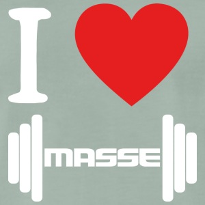 I LOVE Masse WHITE - Männer Premium T-Shirt