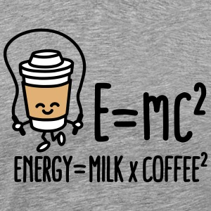 E=mc2 - Energy = Milk x Coffee2 T-skjorter - Premium T-skjorte for menn
