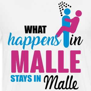 Malle what happens there T-shirts - Mannen Premium T-shirt