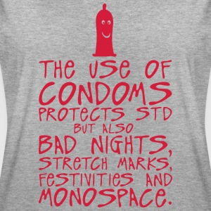 use condoms protects bad nights stretch T-Shirts - Women's Oversize T-Shirt