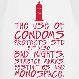 use condoms protects bad nights stretch  Aprons - Cooking Apron