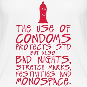 use condoms protects bad nights stretch Tops - Women's Organic Tank Top