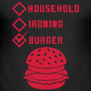 burger household ironing case cohe ok T-Shirts - Men's Slim Fit T-Shirt