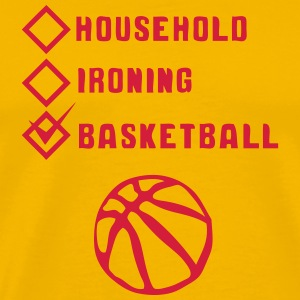 basketball household ironing case cohesive T-Shirts - Men's Premium T-Shirt
