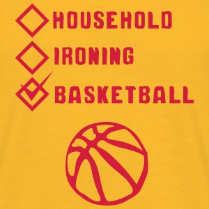 basketball household ironing Box abgehakt T-Shirts - Männer T-Shirt