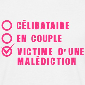 celibataire couple malediction amour Tee shirts - T-shirt Homme