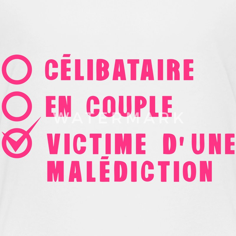 tee shirt celibataire couple malediction amour spreadshirt. Black Bedroom Furniture Sets. Home Design Ideas