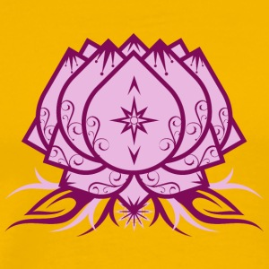 Lotus Flower, Yoga, floral, buddhism, symbol, star - Men's Premium T-Shirt