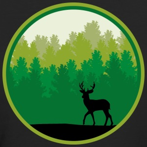 Deer forest trees wildlife deer antler nature T-Shirts - Women's Organic T-shirt