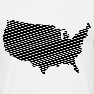 White USA - United States of America Men's Tees - Men's T-Shirt