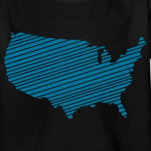 Black USA - United States of America Kids' Shirts - Teenage T-shirt