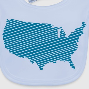 Sky blue USA - United States of America Accessories - Baby Organic Bib
