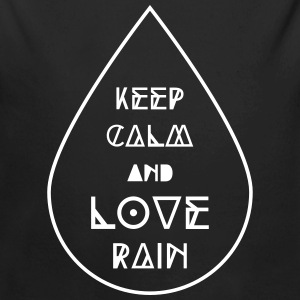 keep calm and love rain Regentropfen Regen Wetter Baby body - Baby bio-rompertje met lange mouwen