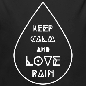 keep calm and love rain Regentropfen Regen Wetter Baby Bodys - Baby Bio-Langarm-Body