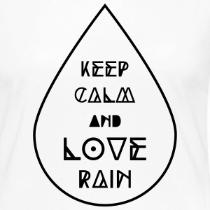 keep calm and love rain Regentropfen Regen Wetter Long Sleeve Shirts - Women's Premium Longsleeve Shirt