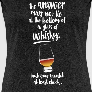 Glass of whisky T-Shirts - Women's Premium T-Shirt