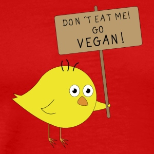 VEGAN Küken | Don´t eat me | Fun Shirt Veganer - Männer Premium T-Shirt