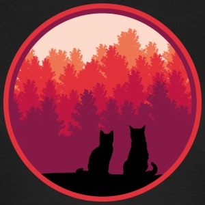 Cats Sunrise wood cat trees T-Shirts - Women's T-Shirt