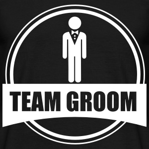Groom Wedding Marriage Stag do night bachelor - Men's T-Shirt