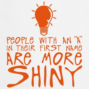 people with a more shiny quote bulb  Aprons - Cooking Apron