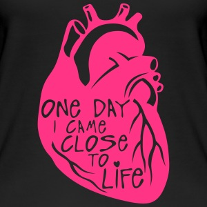 one day i came close to life quote heart Tops - Camiseta de tirantes orgánica mujer