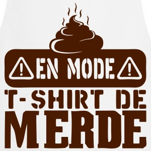 en mode t shirt merde citation Tabliers - Tablier de cuisine