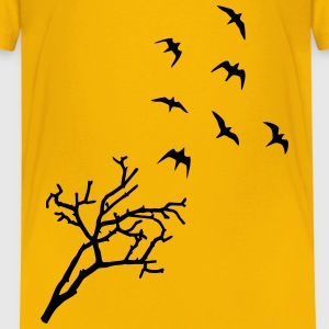 Tree and Birds, Freedom Skjorter - Premium T-skjorte for barn