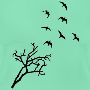 Tree and Birds, Freedom T-shirts - Dame-T-shirt