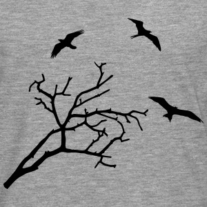 Tree and Birds - oiseaux Manches longues - T-shirt manches longues Premium Homme