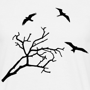 Tree and Birds - oiseaux Tee shirts - T-shirt Homme