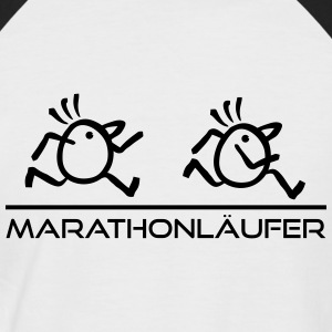 Marathonläufer Speed T-Shirts - Männer Baseball-T-Shirt