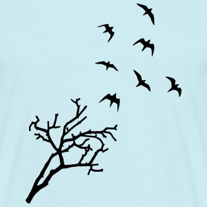 Tree and Birds, Freedom T-shirts - T-shirt herr