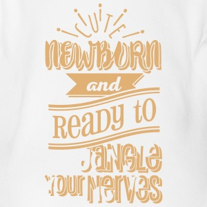 Cute newborn and ready to jangle your nerves 1C Baby Bodys - Baby Bio-Kurzarm-Body