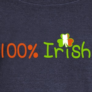 ♥ټ☘I'm 100% Irish-Irish Power Bella Top☘ټ - Women's Boat Neck Long Sleeve Top
