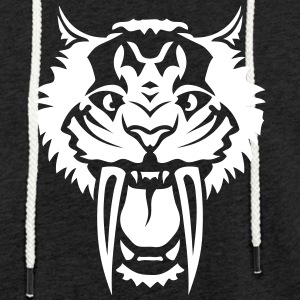 Tiger big tooth ferocious 7122 Hoodies & Sweatshirts - Light Unisex Sweatshirt Hoodie