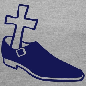 Shoe cross funeral 612 T-Shirts - Women's T-shirt with rolled up sleeves