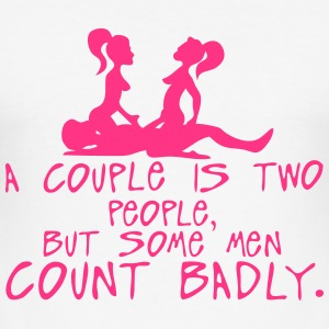 couple two people count badly sexe quote T-Shirts - Men's Slim Fit T-Shirt