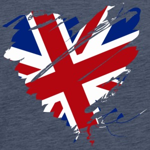 Herz Heart England Great Britain Fußball Football - Männer Premium T-Shirt