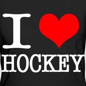 I love hockey - white T-Shirts - Women's Organic T-shirt