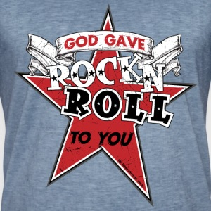 Vintage-T-shirt herr - Rock is my life