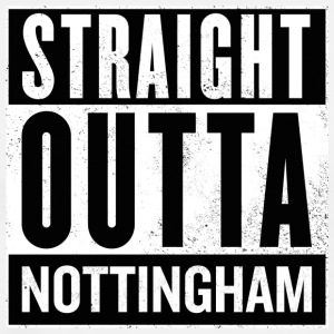 Straight Outta Nottingham - Men's Premium T-Shirt