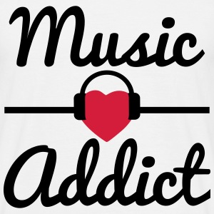 Music addict  - Men's T-Shirt