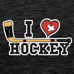 I Love Hockey - Men's Premium T-Shirt