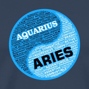 Aquarius and Aries Zodiac Sign Man Love Mug - Men's Premium T-Shirt