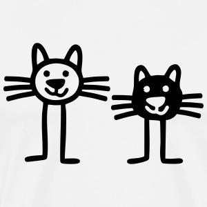 Two Cats T-Shirts - Männer Premium T-Shirt
